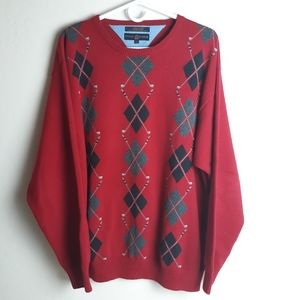 Tommy Hilfiger Golf argyle sweater 100% cotton